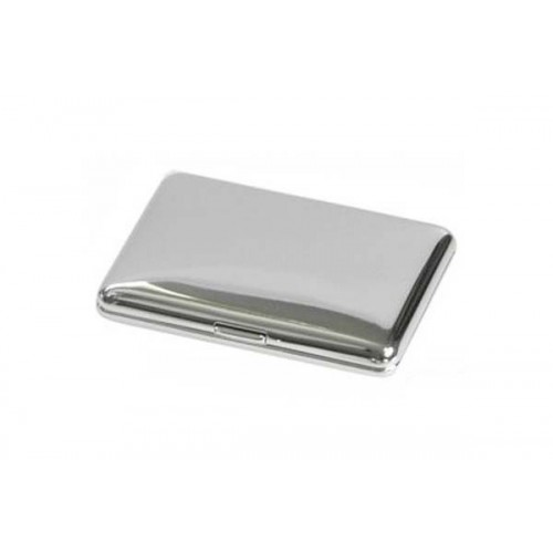 Double cigarette case 1 row chrome plated