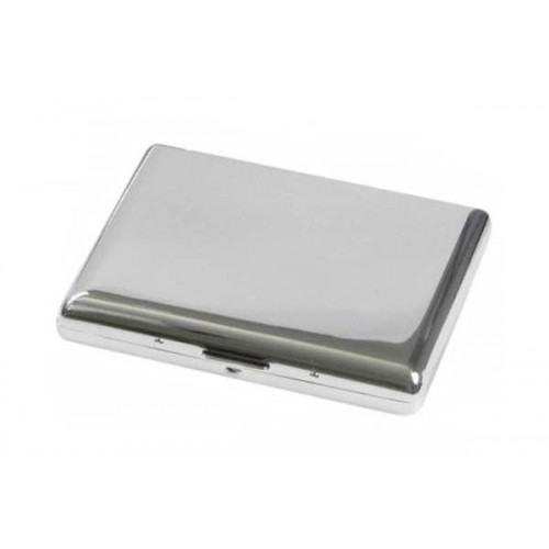 Double big cigarette case 1 row chrome plated