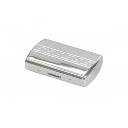 "Cigarette case ""soap"" chrome plated - greak design"