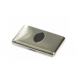 "Cigarette case ""soap"" chrome plated - lines and oval panel"
