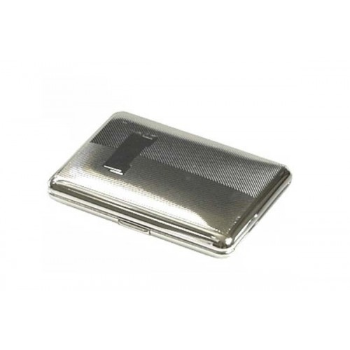 "Cigarette case ""soap"" chrome plated - diagonal lines"