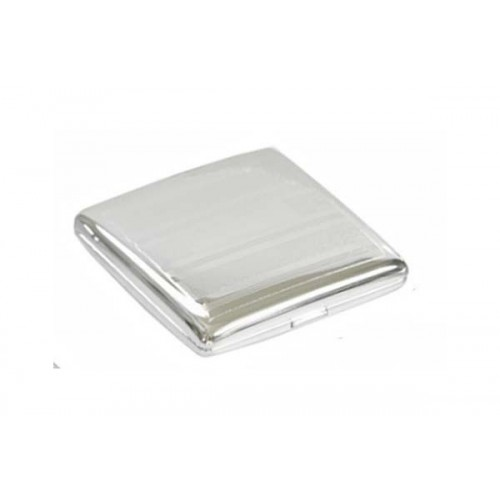Double cigarette case 1 row chrome plated - linee & bands