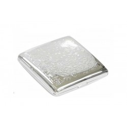 Double cigarette case 1 row chrome plated - venetian