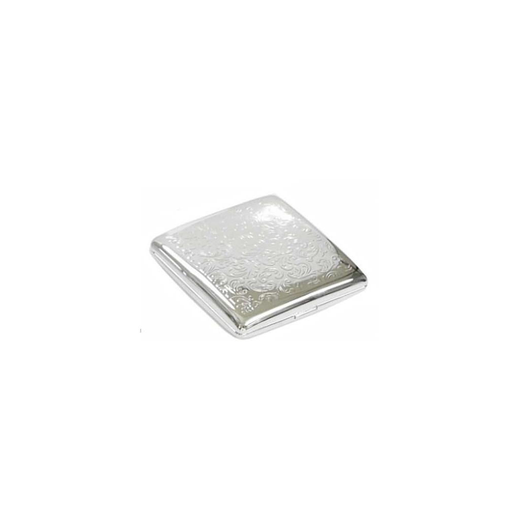 Double cigarette case 1 row chrome plated - venetian