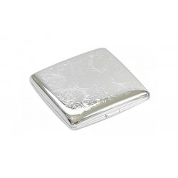 Double cigarette case 1 row chrome plated - venetian II
