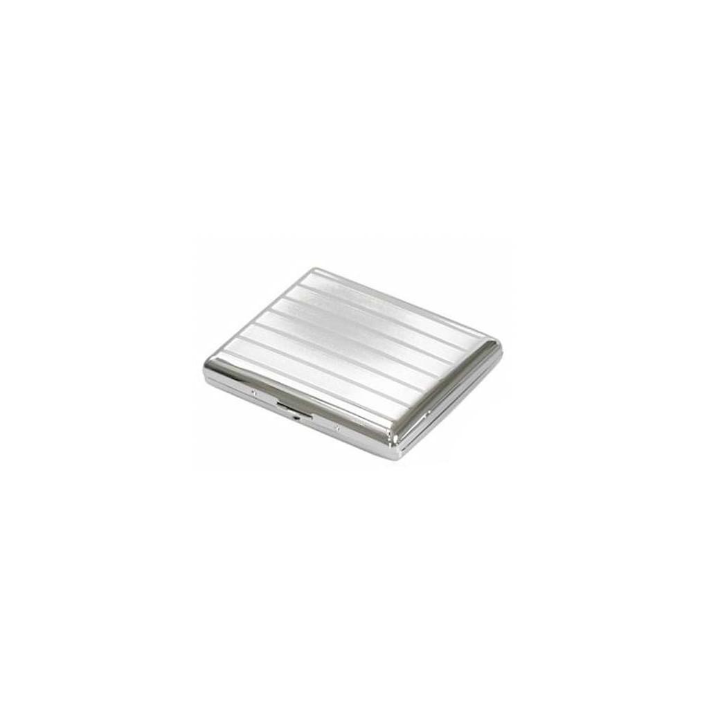 Étui doubles cigarette chrome - lines and bands