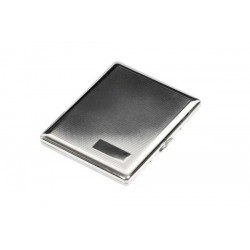 Cigarette case 100s chrome plated - barley