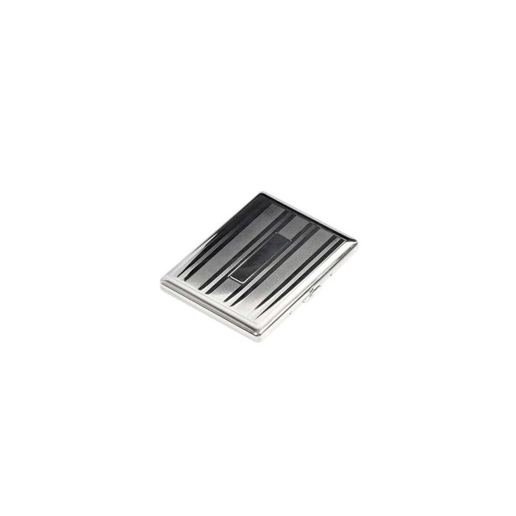 Estuche para cigarrillos 100s cromado - lines & bands