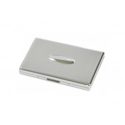 Cigarette case 1 row chrome plated - lines & oval