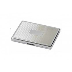 Cigarette case 1 row chrome plated - lines