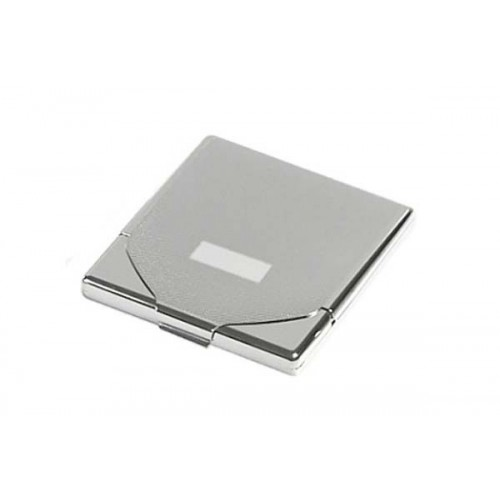1 row cigarette case chrome engraved with flap - barley