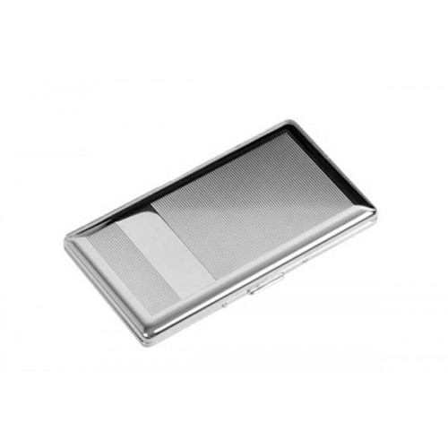 12 slim cigarette case chrome with mirror - lines & bands