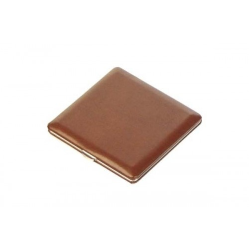 Cigarette case calf leather lined - brown