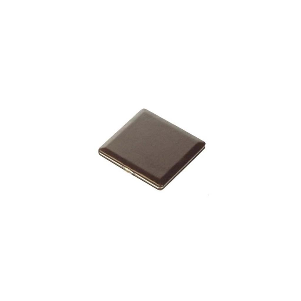 Cigarette case calf leather lined - dark brown