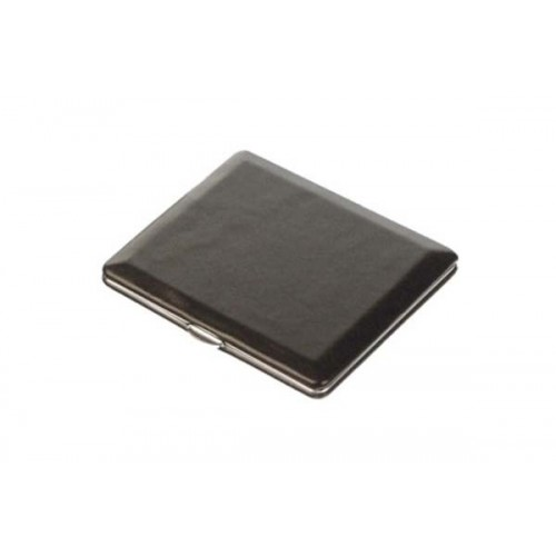 Cigarette case calf leather lined - black