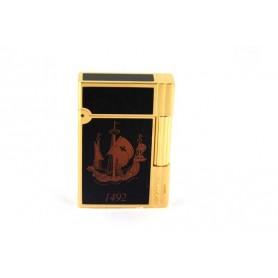 Mechero S.T. Dupont Gatsby Laca de china y oro - Cristoforo Colombo Edición Limitada 1992