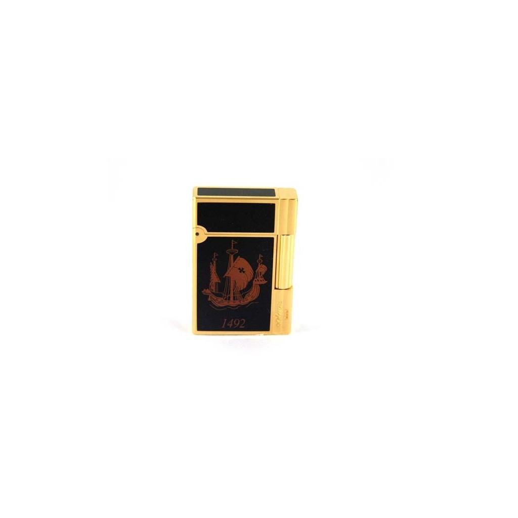 S.T. Dupont Briquet Gatsby Laque china et or - Cristoforo Colombo Edition limitée