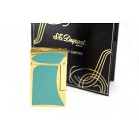 S.T. Dupont Briquet Line 2 Laque china verts et or - Art Nouveau Edition limitée 1993
