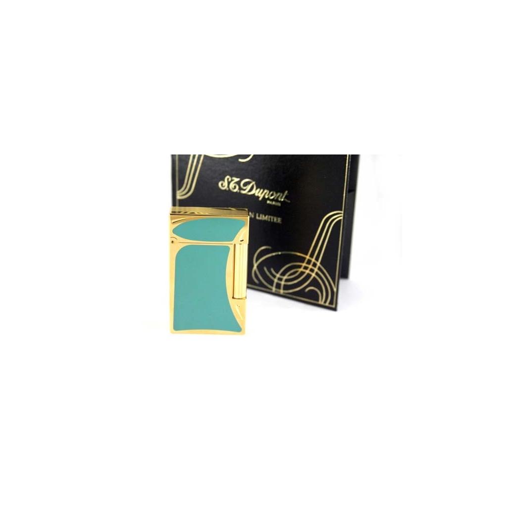 Mechero S.T. Dupont Linea 2 Laca de china vert y oro - Art Nouveau Edición Limitada 1993