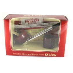 Falcon gift package, straight stem and 2 bowls