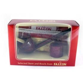 Falcon Boîte cadeau, Droite tuyau marron et 2 Tête