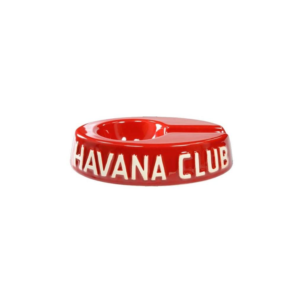 """Cendrier pour cigare Havana Club """"El Egoista"""" de céramique - Vermillon Red"""