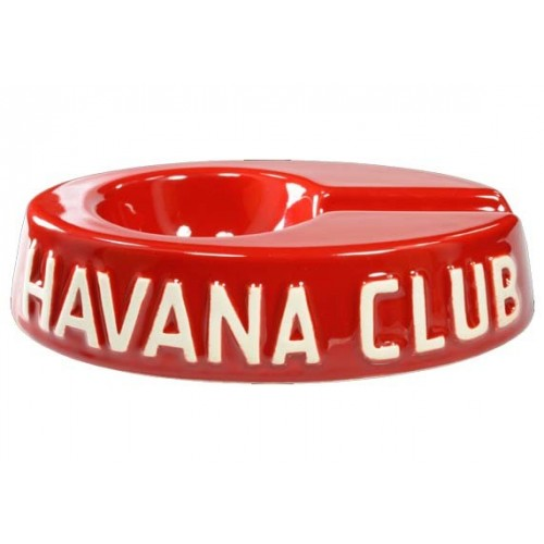 "Havan Club ""El Egoista"" ceramic cigar ashtray - Vermillon Red"