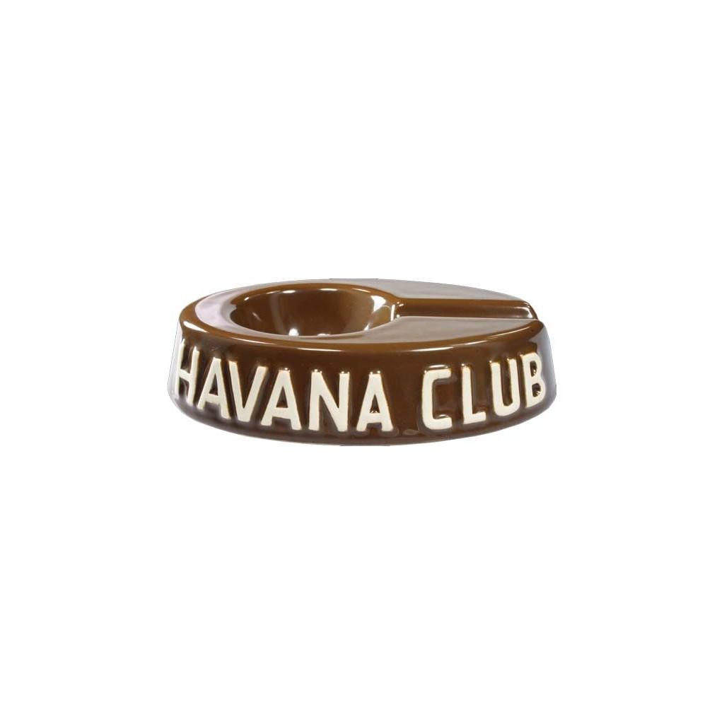 "Havan Club ""El Egoista"" ceramic cigar ashtray - Havana Brown"