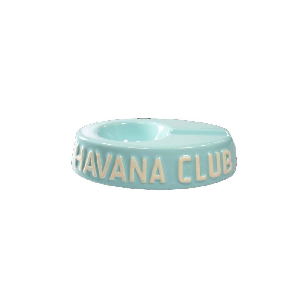 """Ceniceros por cigarro Havan Club """"El Egoista"""" en cerámico - Carribean Blue"""