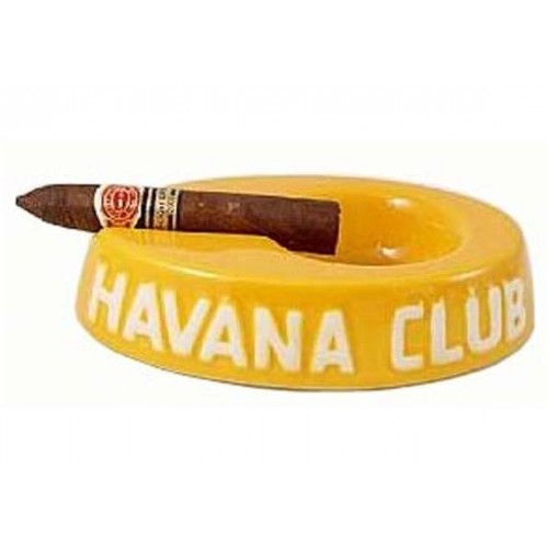 "Havan Club ""El Egoista"" ceramic cigar ashtray - Lime Yellow"