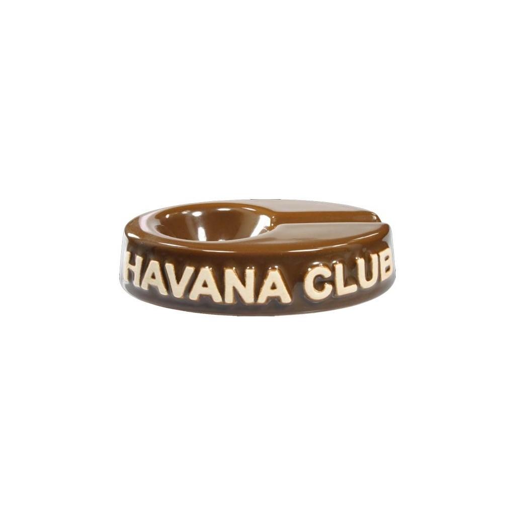 """Cendrier pour cigare Havana Club """"El Chico"""" de céramique - Havana Brown"""