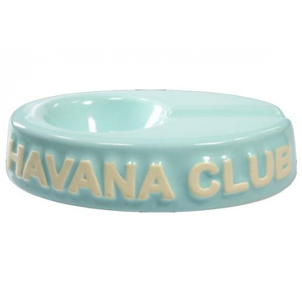 "Havana Club ""El Chico"" ceramic cigar ashtray - Carribean Blue"