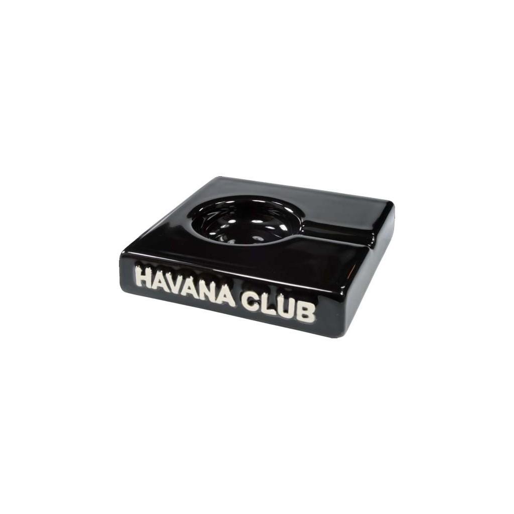 "Havana Club ""El Solito"" ceramic cigar ashtray - Ebony Black"