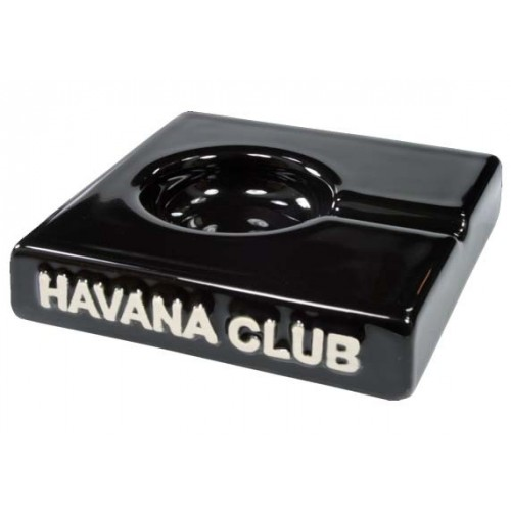 "Posacenere da tavolo Havana Club ""El Solito"" in ceramica - Nero ebano"