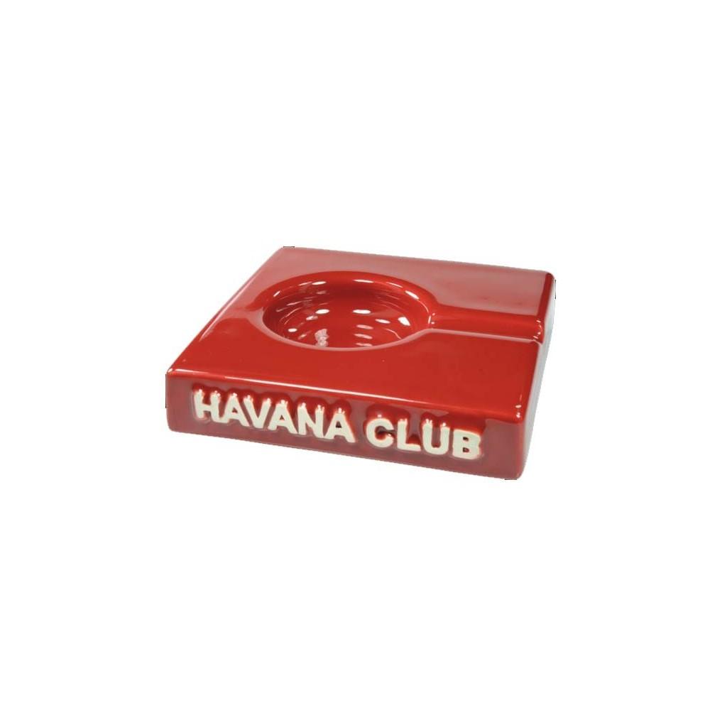 """Havana Club """"El Solito"""" ceramic cigar ashtray - Vermillon Red"""
