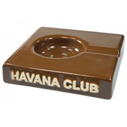 "Havana Club ""El Solito"" ceramic cigar ashtray - Havana Brown"