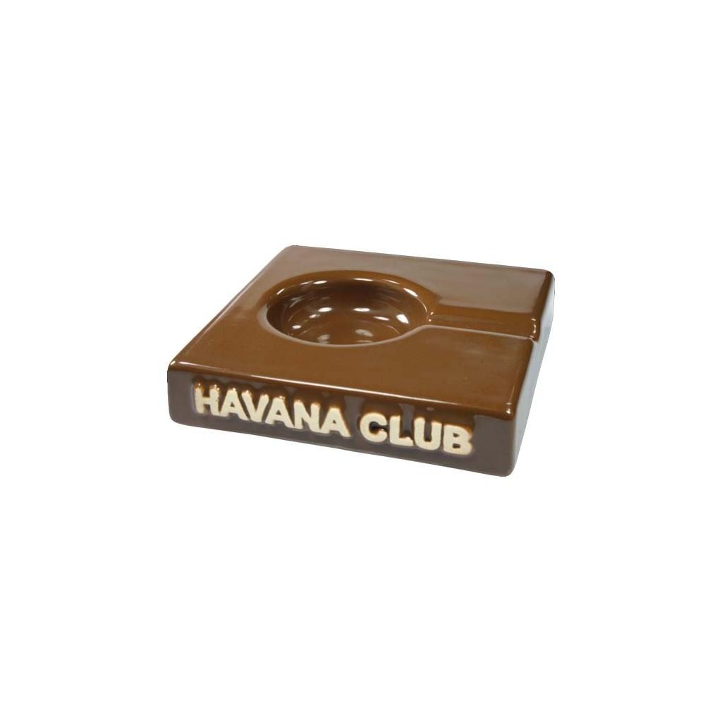 """Havana Club """"El Solito"""" ceramic cigar ashtray - Havana Brown"""