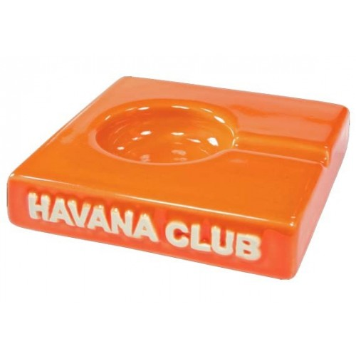 "Cendrier pour cigare Havana Club ""El Solito"" de céramique - Mandarine Orange"