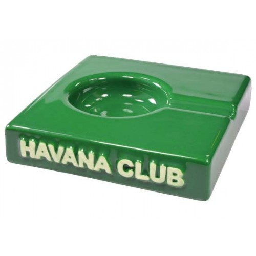 "Posacenere da tavolo Havana Club ""El Solito"" in ceramica - Verde bottiglia"