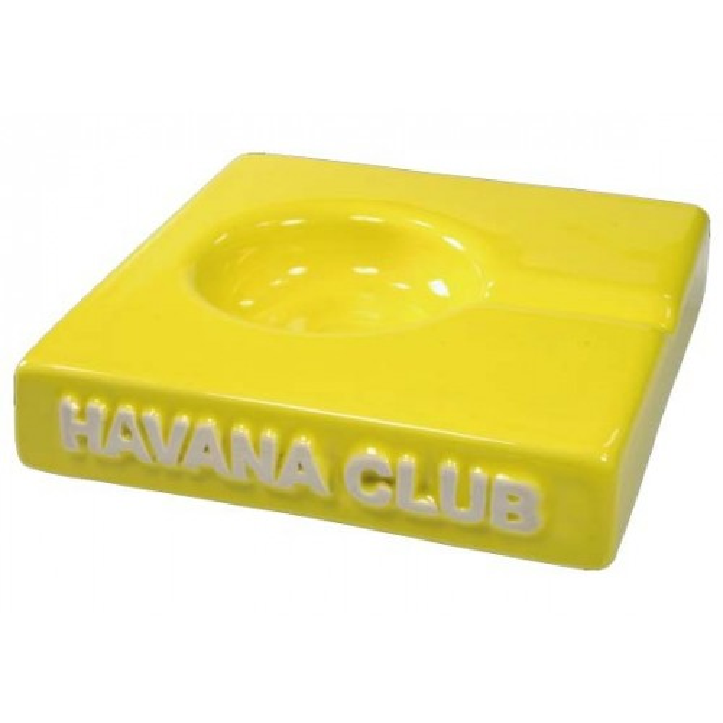 "Havana Club ""El Solito"" ceramic cigar ashtray - Lime Yellow"
