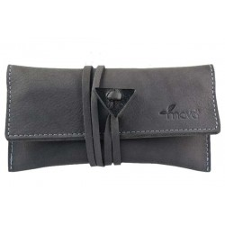 Leather tobacco pouch Mava - Grey