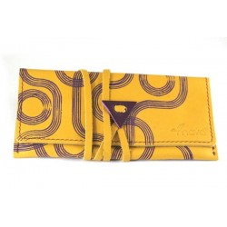 Leather tobacco pouch Mava - Psico Yellow