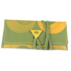 Leather tobacco pouch Mava - Psico Green