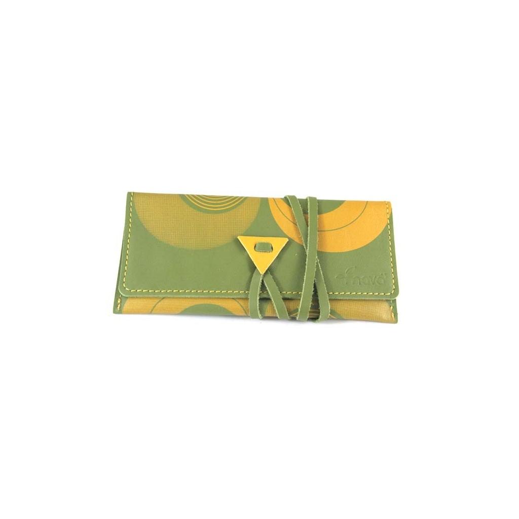 Leather tobacco pouch Mava - Psico Green