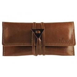 Leather tobacco pouch Mava - Brown Chocolate