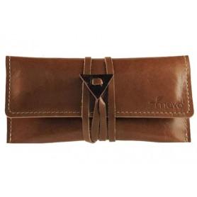 Leather tobacco pouch Mava - Brown Chocolate