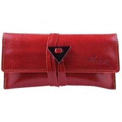 Leather tobacco pouch Mava - Red