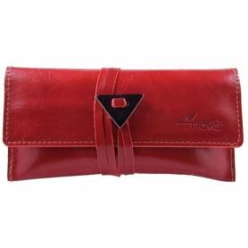 Leather tobacco pouch Mava - Red