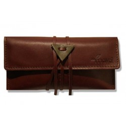 Leather tobacco pouch Mava - Brown Sugar