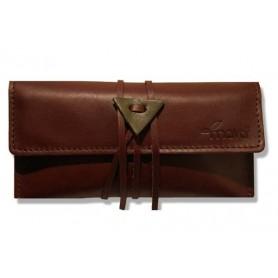 Leather tobacco pouch Mava - Brown Sugar